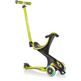 Globber Go-Up Comfort Lights Scooter with LED Wheels Kids, zielony/czarny